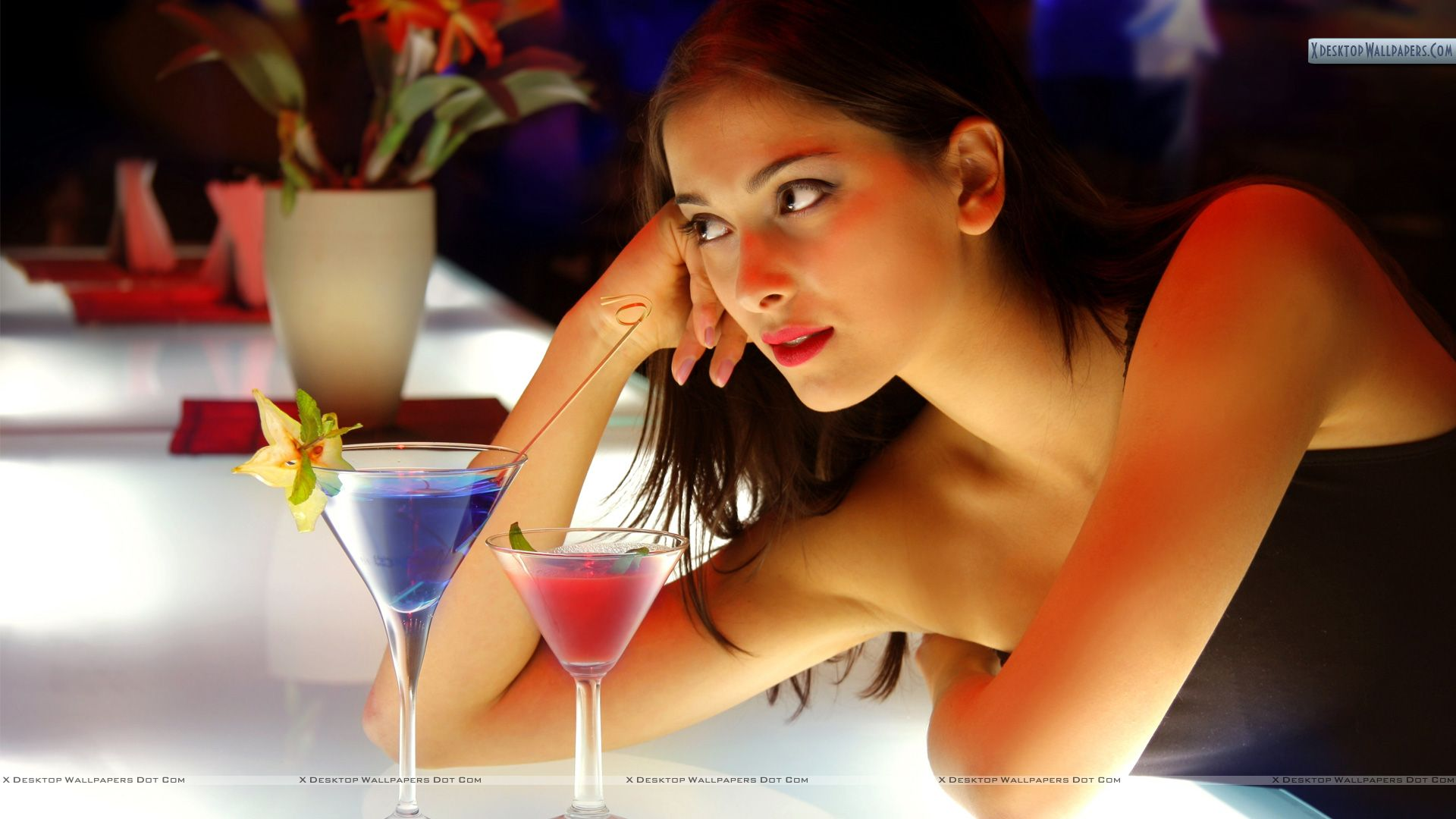 Download this Sexy Girl Bar Counter picture