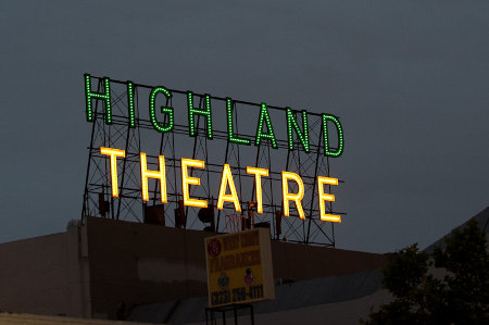 The Highland Park Theatre Sign was Restored by the new wave of residents.